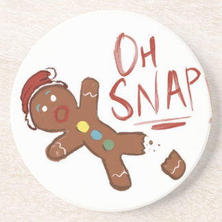 Oh Snap Gingerbread Man Coaster