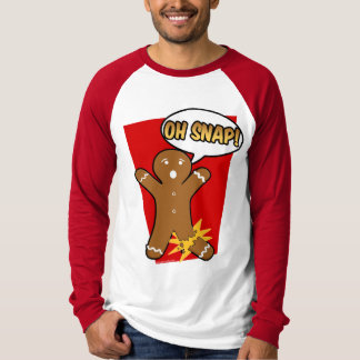 Oh Snap Gingerbread Man Cookie Christmas Holiday T-Shirt