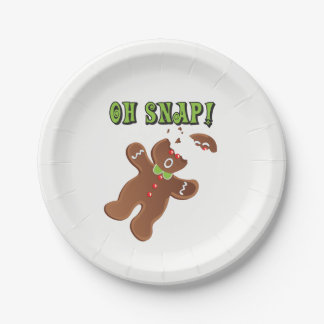 Oh Snap! Gingerbread Man Cookie Paper Plate