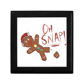 Oh Snap Gingerbread Man Gift Box