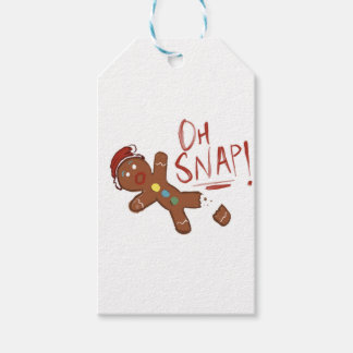 Oh Snap Gingerbread Man Gift Tags