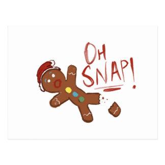 Oh Snap Gingerbread Man Postcard