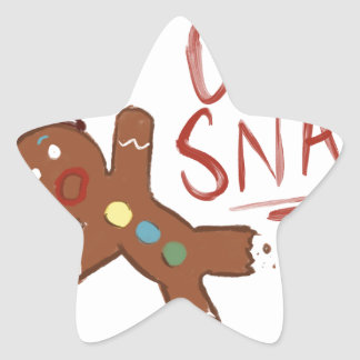 Oh Snap Gingerbread Man Star Sticker