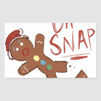 Oh Snap Gingerbread Man Sticker