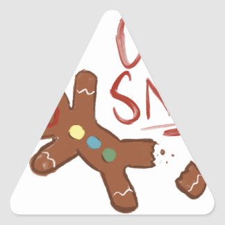 Oh Snap Gingerbread Man Triangle Sticker
