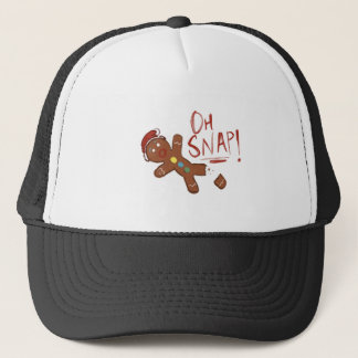 Oh Snap Gingerbread Man Trucker Hat