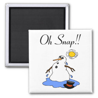 Oh Snap! (Melting Snowman) Magnet