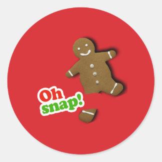 Oh Snap Round Sticker