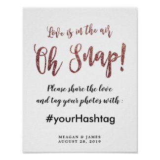 oh snap share the love wedding sign