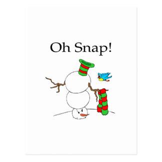 Oh Snap! (UD Snowman) Postcard