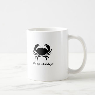 Oh, so crabby! classic white coffee mug