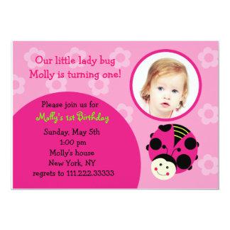 Oh So Sweet Ladybug Birthday Party Invitations