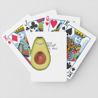 Oh Stop It You - Meme Avocado Bicycle Playing Cards