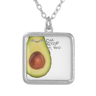 Oh Stop It You - Meme Avocado Silver Plated Necklace