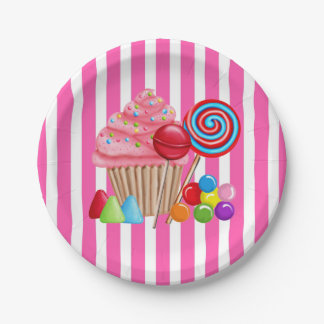 Oh sweet Candyland paper Plates 7 Inch Paper Plate