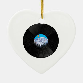 OH SWEET SOUNDS CERAMIC HEART ORNAMENT