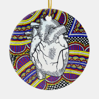 Oh the Heart Ceramic Ornament