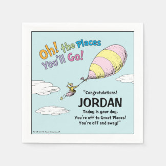 Oh! The Places You'll Go! Graduation Announcement Disposable Napkins