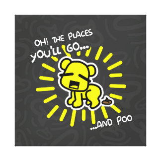 Oh! The Places You'll Poo Canvas Print