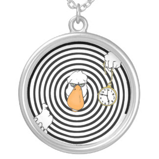 Oh those ducks... Now they're hypnotizing peopl... Silver Plated Necklace