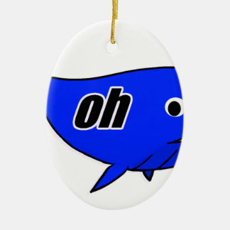 Oh Wale Oh Well Ceramic Oval Ornament