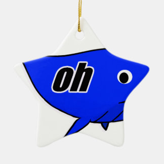 Oh Wale Oh Well Ceramic Star Ornament