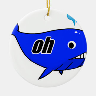 Oh Wale Oh Well Round Ceramic Ornament