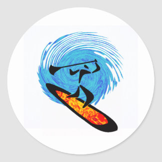 OH WATER DREAMS CLASSIC ROUND STICKER