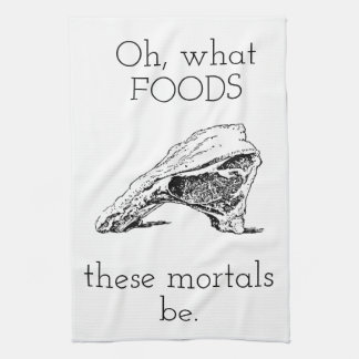 Oh what foods hand towel