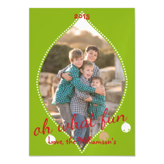 Oh What Fun! Christmas bells magnetic card Magnetic Invitations
