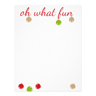 Oh What Fun! Christmas design Letterhead