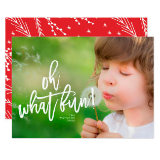 Oh What Fun Christmas Holiday Photo Card