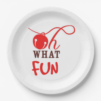 Oh What FUN! Christmas Party Paper Plates