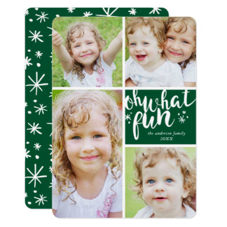 Oh What Fun Collage Holiday Photo Card
