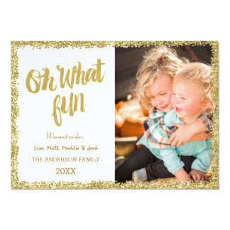 Oh what fun Glitter Christmas Card