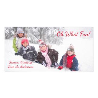 Oh What Fun - Photo Card