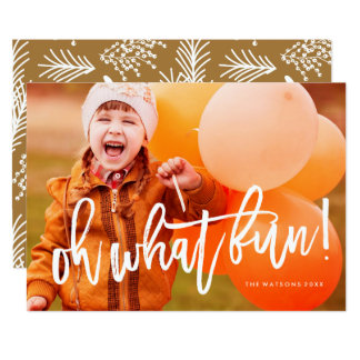 Oh What Fun Photo Card Awesome White Script