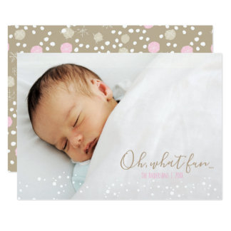 Oh What Fun Retro Christmas Holiday Photo Card