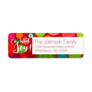 Oh What Joy! Custom Return Address Labels