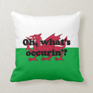 'Oh, what's occurin'?' Throw Pillow