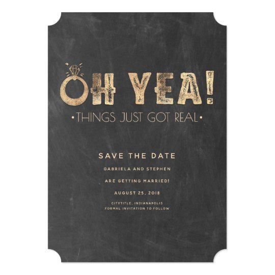 Oh Yea Things Just Got Real | Funny Save the Date Card