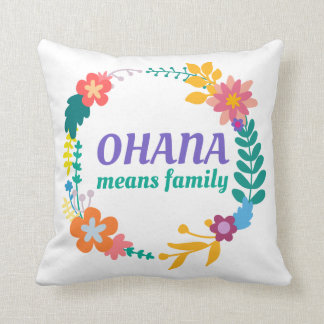 Ohana Means Family | Throw Pillow