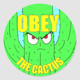 Ohbey The Cactus Round Sticker
