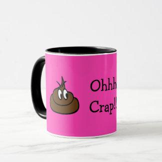 Ohhh Crap!! BRIGHT PINK MUG! Mug
