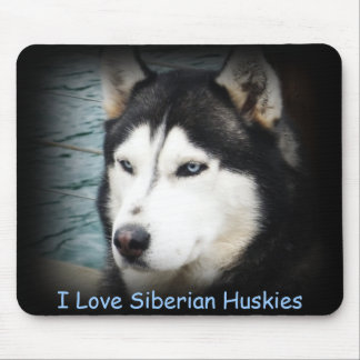 ohhshadow, I Love Siberian Huskies Mouse Pad