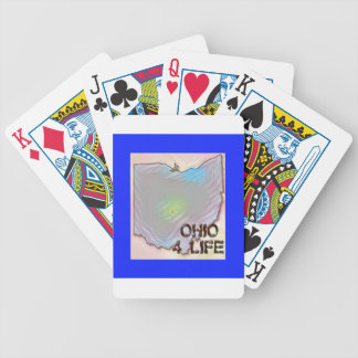 """Ohio 4 Life"" State Map Pride Design Bicycle Playing Cards"