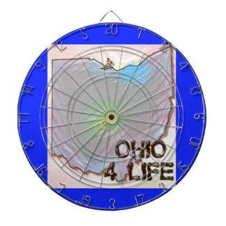 """Ohio 4 Life"" State Map Pride Design Dartboard"