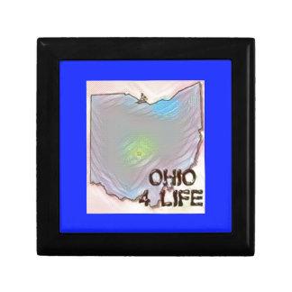 """""""Ohio 4 Life"""" State Map Pride Design Gift Box"""