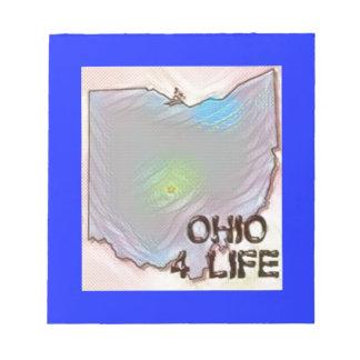 """Ohio 4 Life"" State Map Pride Design Notepad"