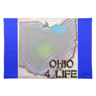 """Ohio 4 Life"" State Map Pride Design Placemats"